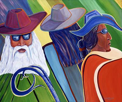 Los Abuelos Bailando Jazz Art Print by George Chacon