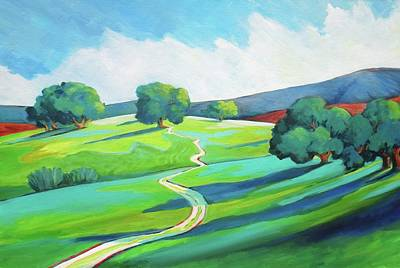 Painting - Los Altos Hills Open Space by Stephanie  Maclean