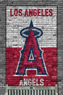 Painting - Los Angeles Angels Brick Wall by Joe Hamilton