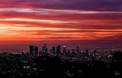 Photograph - Los Angeles At Dawn by Endre Balogh