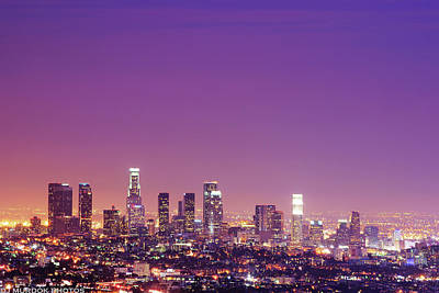 Los Angeles At Dusk Art Print by Dj Murdok Photos