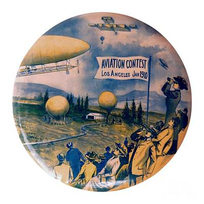 Painting - Los Angeles Aviation Contest 1910 by Peter Ogden Collection