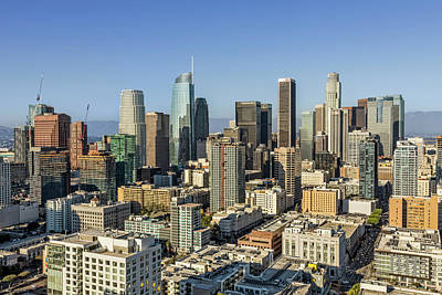 Los Angeles Skyline Photograph - Los Angeles, California by Kelley King