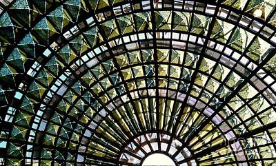Photograph - Los Angeles California Train And Bus Station Terminal  Ceiling by Michael Hoard
