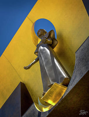 Photograph - Los Angeles Cathedral Virgin by Endre Balogh