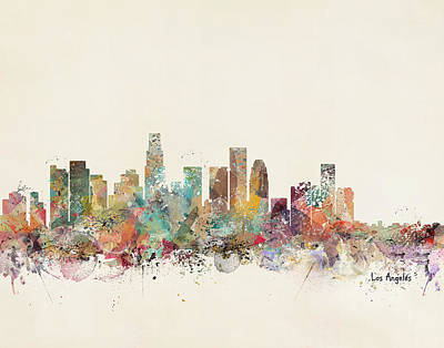 Colourfull Painting - Los Angeles City by Bleu Bri