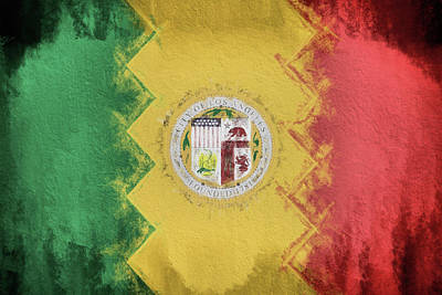 Digital Art - Los Angeles City Flag by JC Findley