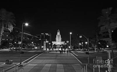 Photograph - Los Angeles City Hall And Grand Park by Charline Xia