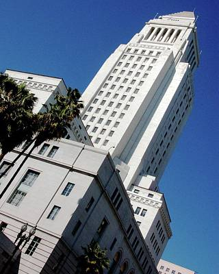 Photograph - Los Angeles City Hall Angle View by Matt Harang
