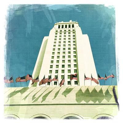 Los Angeles City Hall Art Print by Nina Prommer