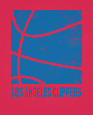 Mixed Media - Los Angeles Clippers City Poster Art 2 by Joe Hamilton