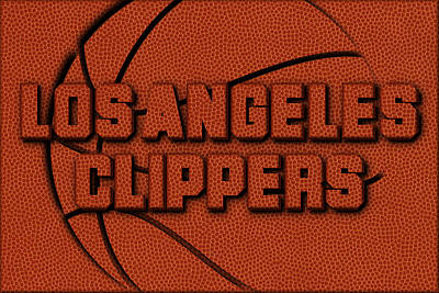 Los Angeles Clippers Leather Art Art Print by Joe Hamilton