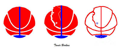 Digital Art - Los Angeles Clippers Logo Redesign Contest by Tamir Barkan