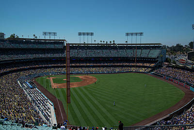 Photograph - Los Angeles Dodgers Dodgers Stadium Baseball 2063 by David Haskett
