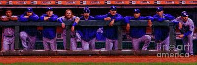 Photograph - Los Angeles Dodgers Dugout by Blake Richards