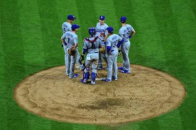Photograph - Los Angeles Dodgers by Frozen in Time Fine Art Photography
