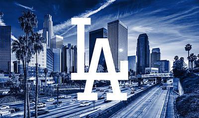 Los Angeles Dodgers Digital Art - Los Angeles Dodgers Mlb Baseball by Nicholas Legault