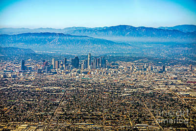 Los Angeles Skyline Photograph - Los Angeles From Above by Art K
