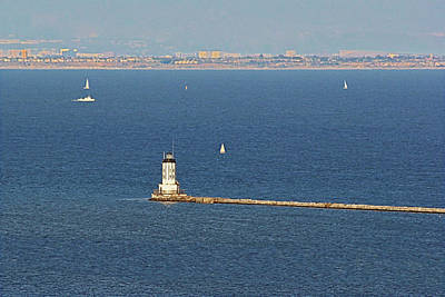 Southwest Gate Photograph - Los Angeles Harbor Light - Angel's Gate - California by Christine Till