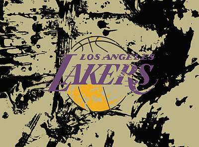 La Lakers Mixed Media - Los Angeles Lakers 1a by Brian Reaves