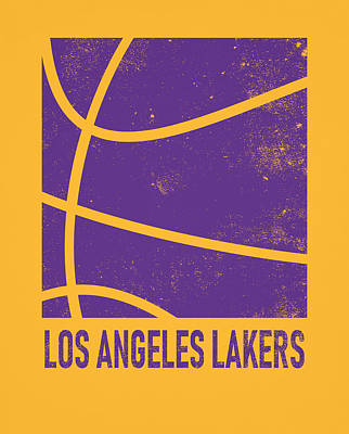 Mixed Media - Los Angeles Lakers City Poster Art 2 by Joe Hamilton