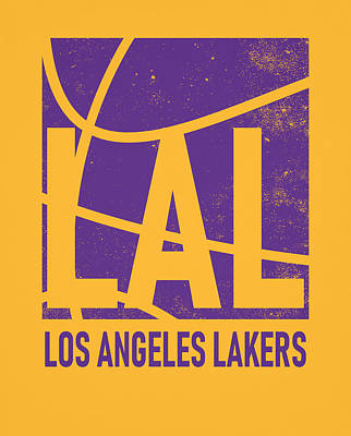 Mixed Media - Los Angeles Lakers City Poster Art by Joe Hamilton