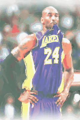 Los Angeles Lakers Kobe Bryant 3 Print by Joe Hamilton
