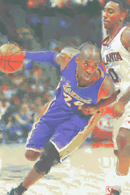 Los Angeles Lakers Kobe Bryant Art Print by Joe Hamilton