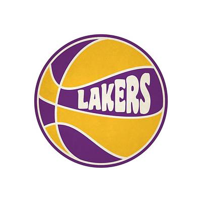 Los Angeles Lakers Retro Shirt Art Print
