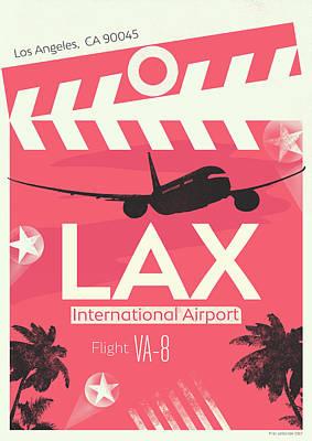 Los Angeles Lax Airport Art Print