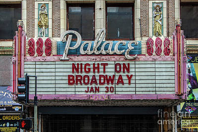 Photograph - Los Angeles Palace Theater Marquee by Gregory Dyer