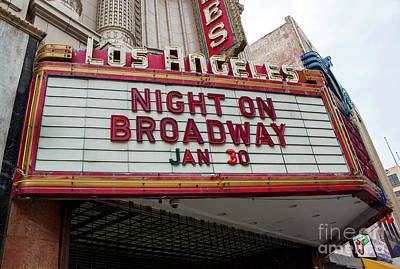 Photograph - Los Angeles Palace Theater Theater Marquee by Gregory Dyer