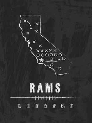 Los Angeles Rams Art - Nfl Football Wall Print Art Print by Damon Gray