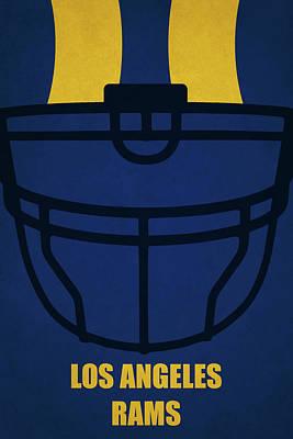 Painting - Los Angeles Rams Helmet Art by Joe Hamilton