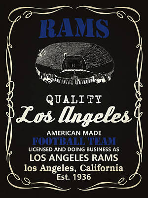 Mixed Media - Los Angeles Rams Whiskey by Joe Hamilton