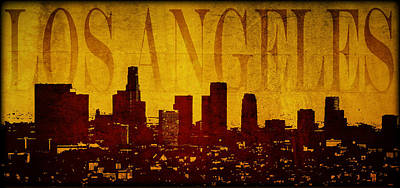 Digital Art - Los Angeles by Ricky Barnard