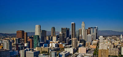 Los Angeles Skyline Photograph - Los Angeles Skyline by Chris Brannen