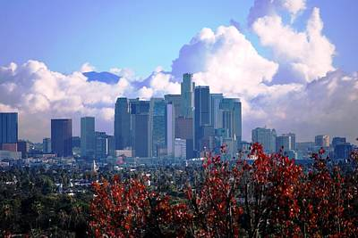 Photograph - Los Angeles Skyline Cloudscape by Matt Harang