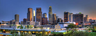 Los Angeles Skyline Photograph - Los Angeles Skyline by Eddie Yerkish
