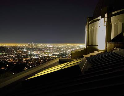 Los Angeles Skyline From The Griffith Observatory Art Print