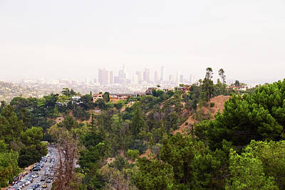 Photograph - Los Angeles Skyline  by Marius Sipa