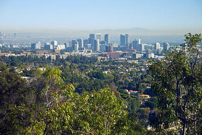 Photograph - Los Angeles Skyline by Melinda Fawver