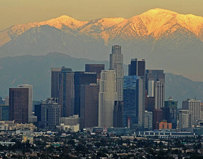 Photograph - Los Angeles Sundown by Matt MacMillan