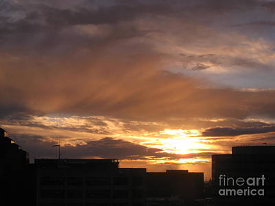 Photograph - Los Angeles Sunset From The 12th Floor by Karen Sydney