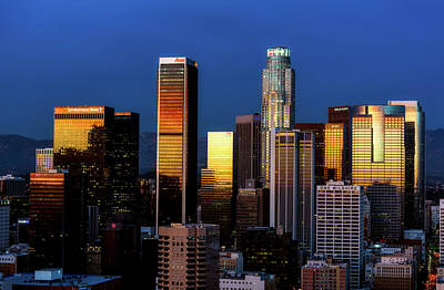 Photograph - Los Angeles Sunset Reflections by L O C