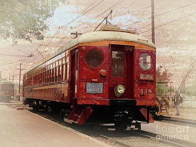 Photograph - Los Angeles Trolley 418 by Robert Ball