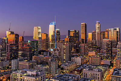 Los Angeles Skyline Photograph - Los Angeles Twilight by Kelley King