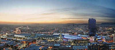 Skylines Royalty-Free and Rights-Managed Images - Los Angeles West View by Kelley King