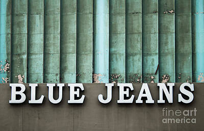 Photograph - Los Angles - Blue Jeans by Gregory Dyer