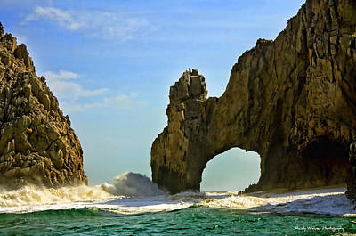 Los Arcos Waves Art Print